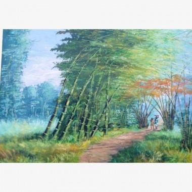 """Tableau """"Les Bambous""""..."""