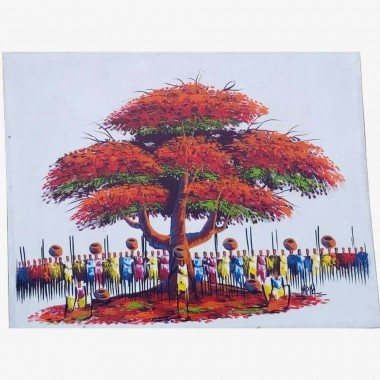 "Tableau ""Le Baobab Rouge""..."