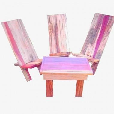 Ensemble chaises à palabre...